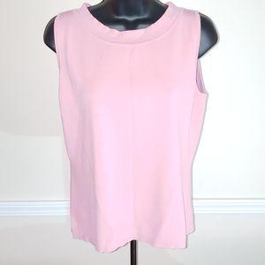 Dressbarn Pink Dressy Office Tank Top, Size L